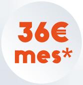 36 euros al mes