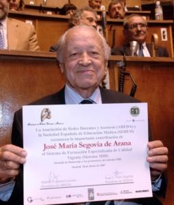 El Dr. Segovia de Arana, figura clave de la medicina española, falleció en 2016