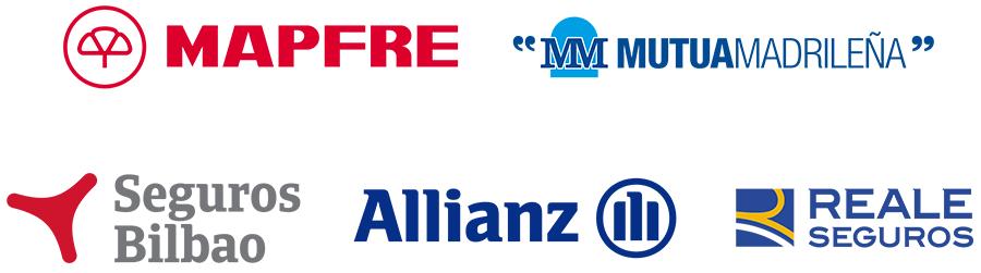 Mapfre, Mutua Madrileña, Seguros Bilbao, Allianz y Reale Seguros